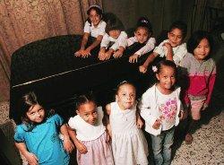 Profesores de pianos y niños