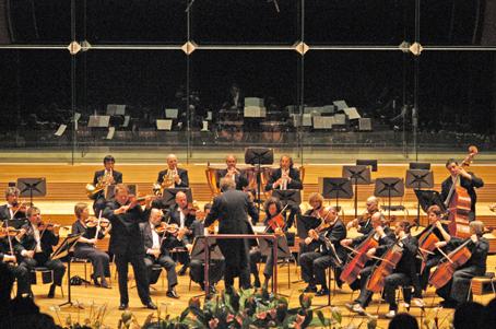 Imagen de un concierto para violín y orquesta