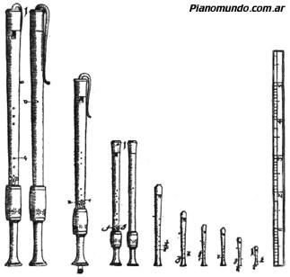 la familia de las flautas barrocas