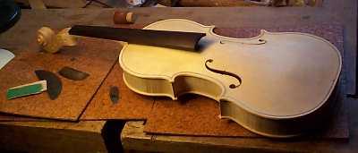 Partes violin cuerpo